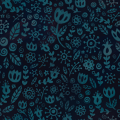 Scandinavian Flowers - Teal