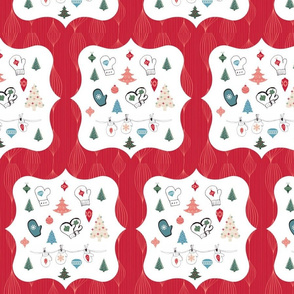 Mittens Red Holiday