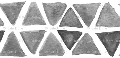 Gray Watercolor Triangles