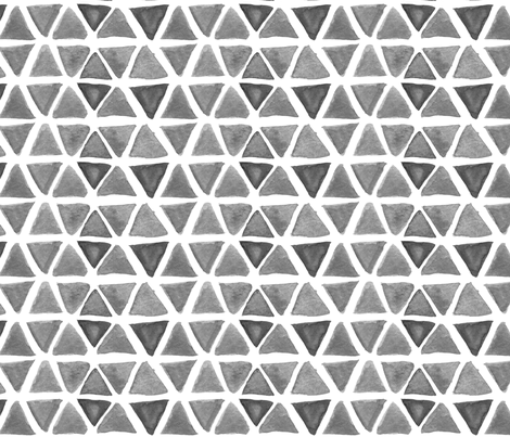 Gray Watercolor Triangles fabric by katebutler on Spoonflower - custom fabric
