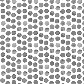 Grey Watercolor Dots
