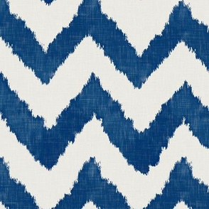 Navy Ikat Watercolor Chevron