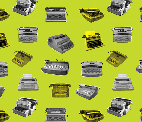 Electric Typewriters 1a fabric by muhlenkott on Spoonflower - custom fabric