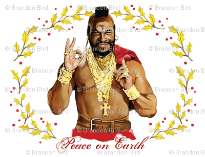 """T-mas """"Peace on Earth"""" wrapping paper"""