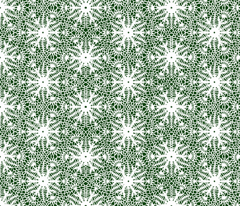 wrap_paper_crocus_snowflake_white_forest_green fabric by whatever-works on Spoonflower - custom fabric