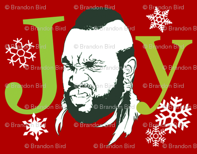 "T-mas ""Joy"" wrapping paper"