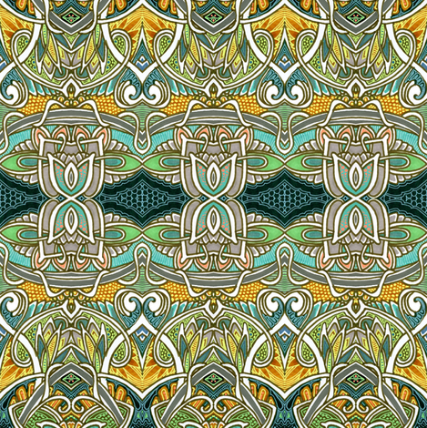 Contemplations on Some Magic Mushrooms fabric by edsel2084 on Spoonflower - custom fabric