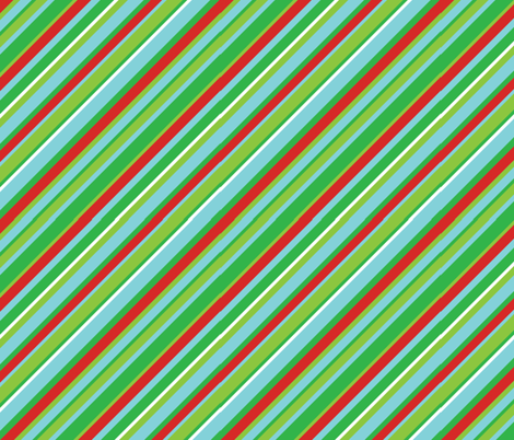 Christmas Stripe fabric by meglish on Spoonflower - custom fabric