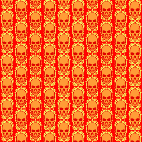 Ditsy Skull Warm fabric by jadegordon on Spoonflower - custom fabric