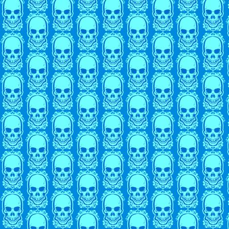 Ditsy Skull Cool fabric by jadegordon on Spoonflower - custom fabric