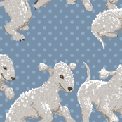 Bedlington Terriers Fabric
