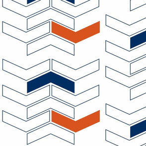 Chevron Orange Navy