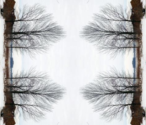 Winter trees fabric by swishgirl on Spoonflower - custom fabric
