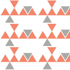 Triangles Coral Grey
