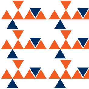 Triangles Orange Navy