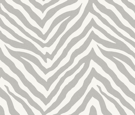 Cashmere and Snow Zebra  fabric by willowlanetextiles on Spoonflower - custom fabric