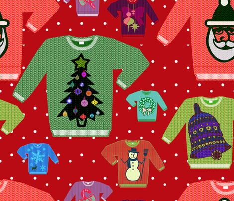 u-g-l-y sweater  fabric by cornie on Spoonflower - custom fabric
