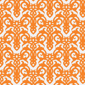 Orange Imperial Damask