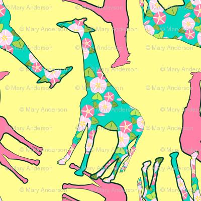 Floral Giraffe Pattern