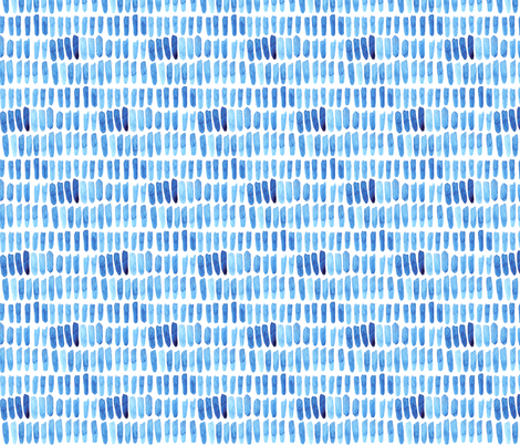 Watercolor Dash Strokes - Blue fabric by katebutler on Spoonflower - custom fabric