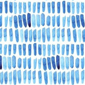 Watercolor Dash Strokes - Blue