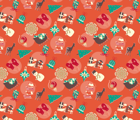 north christmas small print fabric by mariao on Spoonflower - custom fabric