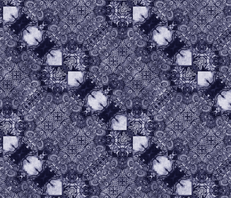 lace garden in violet fabric by kociara on Spoonflower - custom fabric