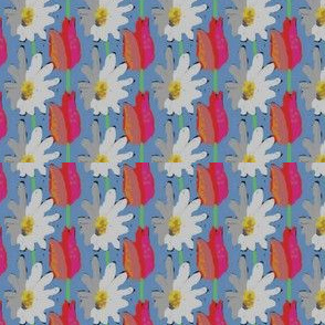 Daisies and tulips