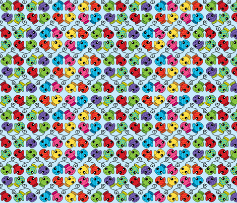Perfectly Mismatched Pairs fabric by studiolongoria on Spoonflower - custom fabric