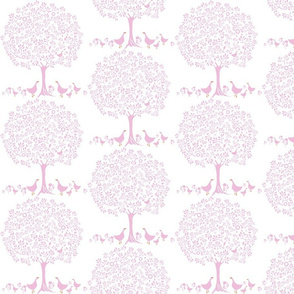 Chiddingly tree geese/pink