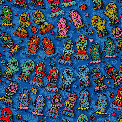 Mittens fabric by cassiopee on Spoonflower - custom fabric