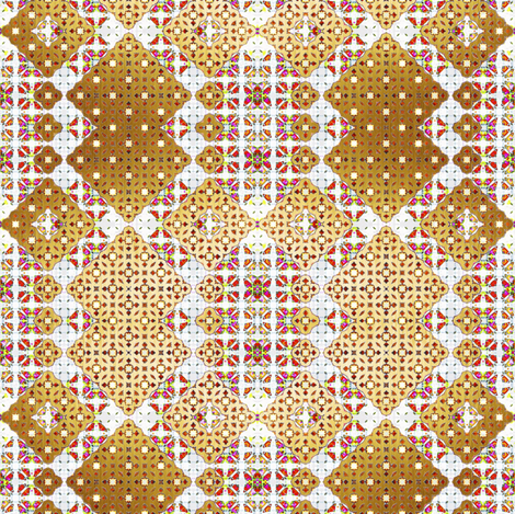 006_Gold_n_White_n_Pink_Morocco fabric by phosfene on Spoonflower - custom fabric