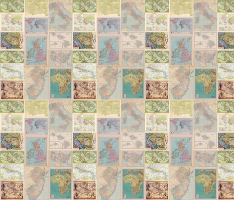 Glorious Maps-ed fabric by aftermyart on Spoonflower - custom fabric