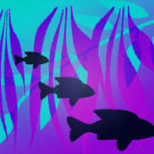 Aqua and Purple Underwater World mosaic