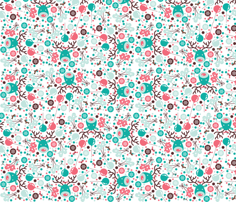 Retro Holiday fabric by curlywillowco on Spoonflower - custom fabric
