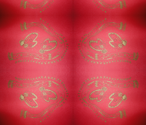 Christmas Mittens fabric by atsch on Spoonflower - custom fabric