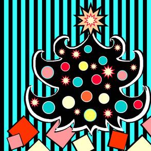Retro Pop Christmas Tree Panel or Wall Hanging