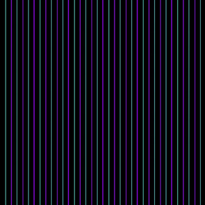 Purple and Turquoise Pinstripe- Dark