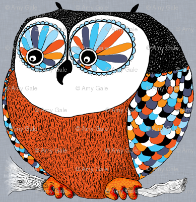 Roly-Poly Owl, large scale