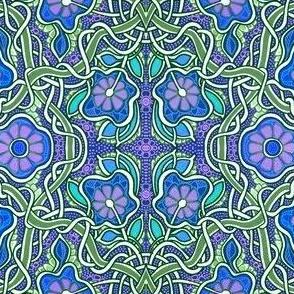 Tangled Garden (blue)