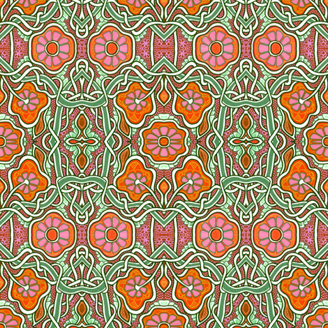 Tangled Poppy Paths fabric by edsel2084 on Spoonflower - custom fabric