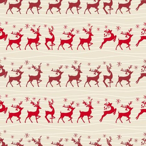 Red Reindeer Running