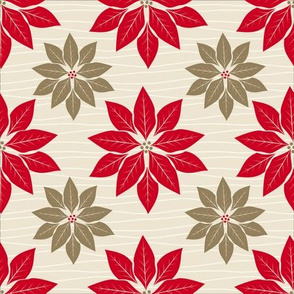 Red Gold Poinsettia