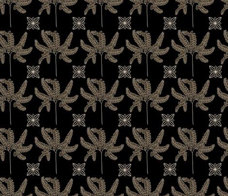 Midnight Ferns fabric by mypetalpress on Spoonflower - custom fabric