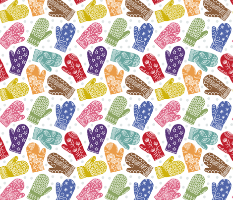 Knittin' Mittens fabric by dianne_annelli on Spoonflower - custom fabric