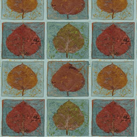 Copper Leaves fabric by mypetalpress on Spoonflower - custom fabric