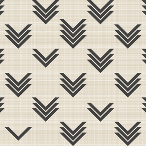 Varied Chevrons on Linen