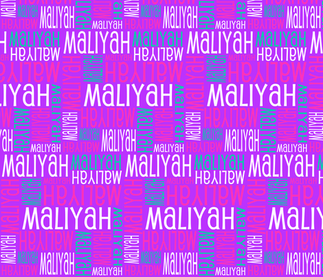 Personalised Name Design - Purple Pink Green fabric by shelleymade on Spoonflower - custom fabric