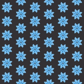 flower gray and blue