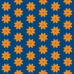 flower blue and orange
